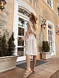 Женское льняное платье в полоску с поясом (2 цвета), фото 10