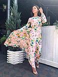 Женское платье в пол с цветочным принтом, фото 3