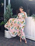 Женское платье в пол с цветочным принтом, фото 2