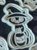 Формочка-вырубка для пряников + штамп  Набор Хэллоуин №2 - Тыква с котом