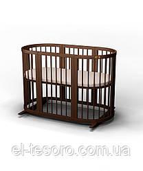 КРОВАТКА - ТРАНСФОРМЕР ОВАЛЬНАЯ  SMART BED MAXI 9-В-1 (ЦВЕТА В НАЛИЧИИ)