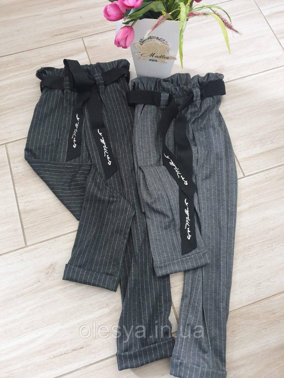 Брюки школьные модные с завышенной талией, со стрелками размеры 134- 152