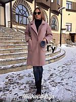 Пальто женское зимнее из кашемира на синтепоне