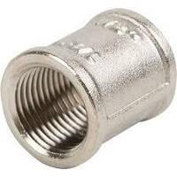 Муфты Люкс никелированные прямые латунные15мм ГОСТ 8955-75