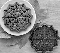 Формочка-вырубка для пряников + штамп  Набор Хэллоуин №2 - Паутина