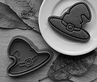 Формочка-вырубка для пряников + штамп  Набор Хэллоуин №2 - Шляпа