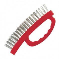 Щітка ручна для зачищення іржі 165 мм, пластиковий корпус INTERTOOL BT-0010