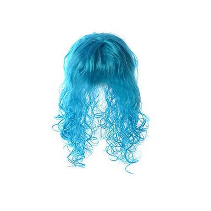 Парик Мальвины голубого цвета, фото 2