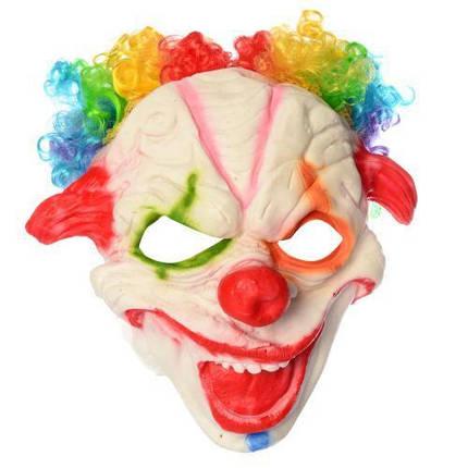 Страшная латексная маска Клоуна с париком, фото 2