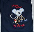 Дитячі трикотажні штани темно-сині Маленький пірат р. 68-92 см (Nicol, Польща), фото 2
