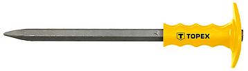 Пробойник с пластмассовым фартуком для защиты руки 400 x 19 мм Topex 03A169