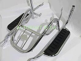 Багажник задний металлический   Delta/Alpha   (с подножками)   KOMATCU