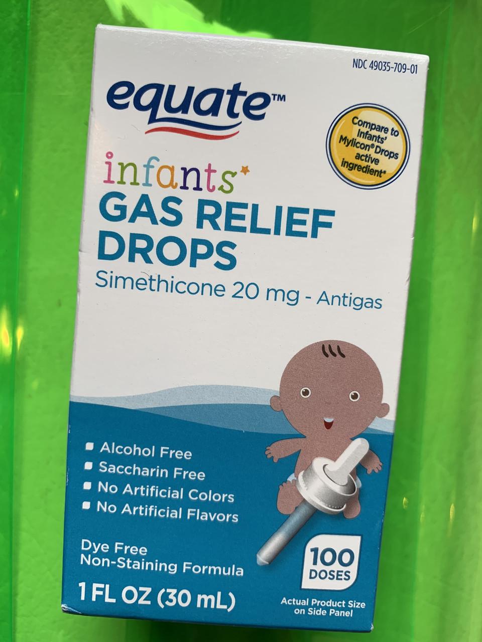 Капли от коликов Equate Infants' Gas Relief Drops от рождения и старше
