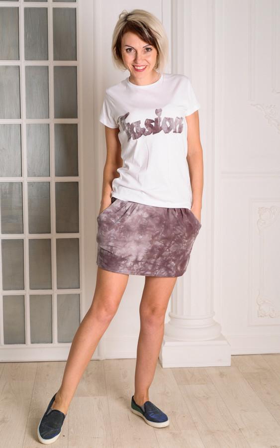 Женский летний костюм  юбка-футболка размеры 40-46