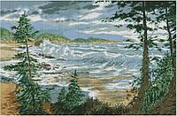 Набор для вышивки крестом Море. Размер: 55,5*36,5 см