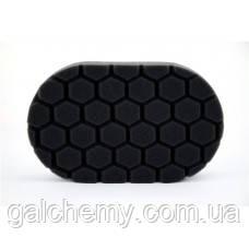 Пінополіуретановий чорний аплікатор Black Hex-Logic Finishing Hand Pad Chemical Guys, BUFX_202
