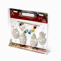 Набор для детского творчества - 4 новогодние фигурки, (020959)