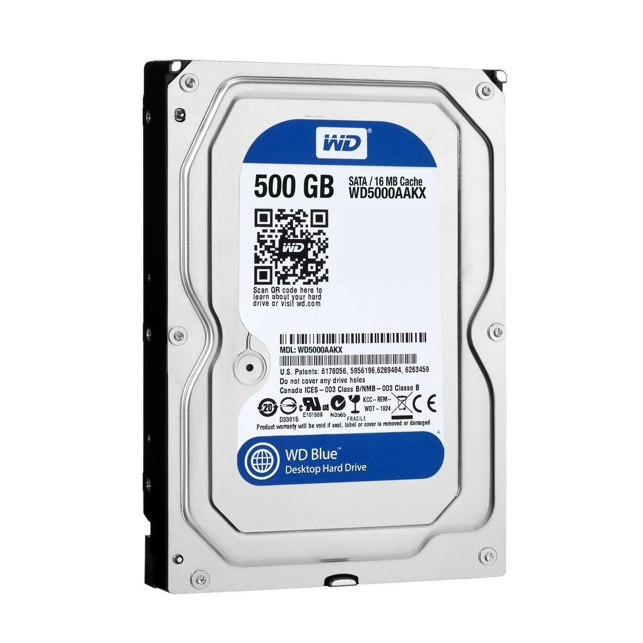 """Жесткий диск WD Blue WD5000AAKX 500GB 3.5"""" """"Over-Stock"""" Б/У"""