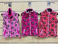 Безрукавки флісові для дівчаток Minnie 98-134 р. р., фото 1