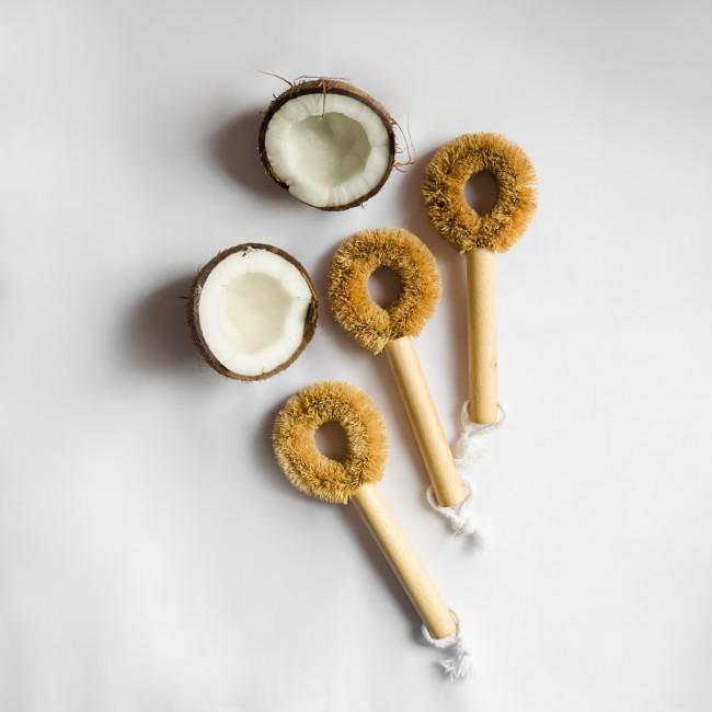 Щетка для мытья поверхностей, кокосовая щетка, щетка для чистки