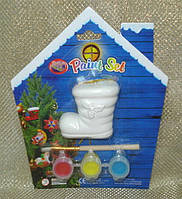 Набор для детского творчества - сапожок, 3 краски, кисточка, (021857)
