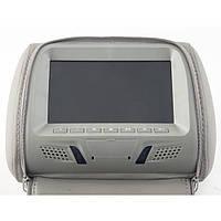 Подголовник с монитором KLYDE Ultra 717 Grey (серый)