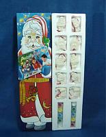 Набор для детского творчества - 10 новогодних фигурок, 10 тюбиков с краской, 2 кисточки, (021918)