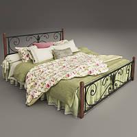 """Кровать на деревянных ногах """"Крокус"""""""