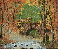 Набор для вышивки крестом Осенний пейзаж. Размер: 41,5*34,5 см