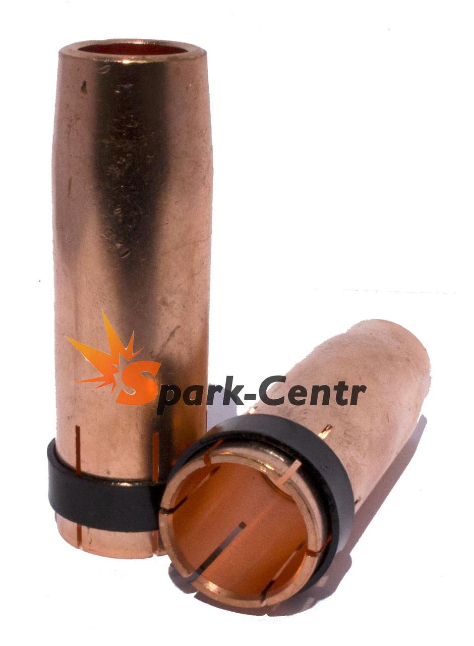 Сопло газовое Ø16мм х Ø24мм х 76мм для сварочных горелок МВ-26 (MIG/MAG)