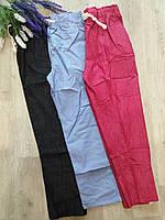 Штаны молодежные укороченные цветные, однотонные