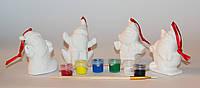 Набор для детского творчества - керамика, 4 фигурки, 6 красок, (022434)