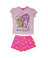 Пижама детская для девочки шорты и футболка