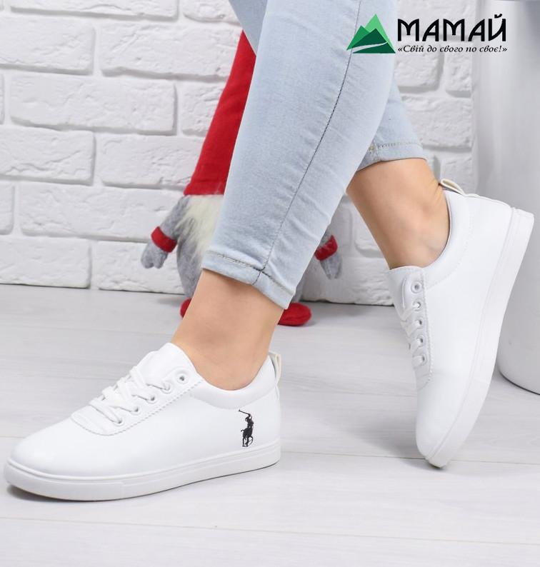 Кросівки жіночі в стилі Polo Ralph Lauren білі 36р