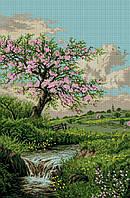 Набор для вышивки крестом Цветущая весна. Размер: 39,5*57,5 см