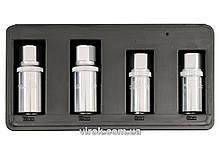 Головки для знімання штифтів YATO, з кв. 1/2, M=21мм, 6,8,10,12мм, набір 4шт. [6/24] YT-0620