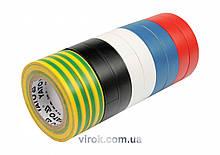 Набор лент изоляционных YATO 19 мм х 20 м 10 шт YT-8173
