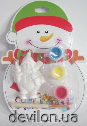 Набор для детского творчества - в ассортименте - ёлка, Дед Мороз, снеговик, домик, (022588)