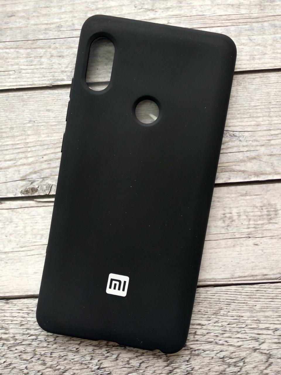 Чехол Xiaomi Redmi 6 Silicone Cover Soft touch (Logo) black