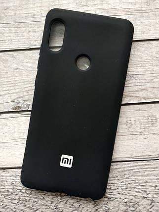 Чехол Xiaomi Redmi 6 Silicone Cover Soft touch (Logo) black, фото 2