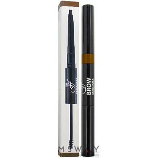 Ffleur - Моделирующая тушь+карандаш для бровей Brow Sculpt BME-17 Тон Dark brown, фото 2
