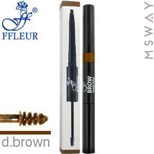 Ffleur - Моделирующая тушь+карандаш для бровей Brow Sculpt BME-17 Тон Dark brown