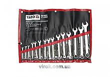 Набор ключей рожково-накидных YATO М6-27 мм 15 шт YT-0065