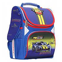 """Рюкзак шкільний каркасний (ранець) для хлопчика Class """"ProStreet"""" синій Чехія 9814, фото 1"""