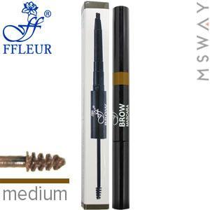 Ffleur - Моделирующая тушь+карандаш для бровей Brow Sculpt BME-17 Тон Medium