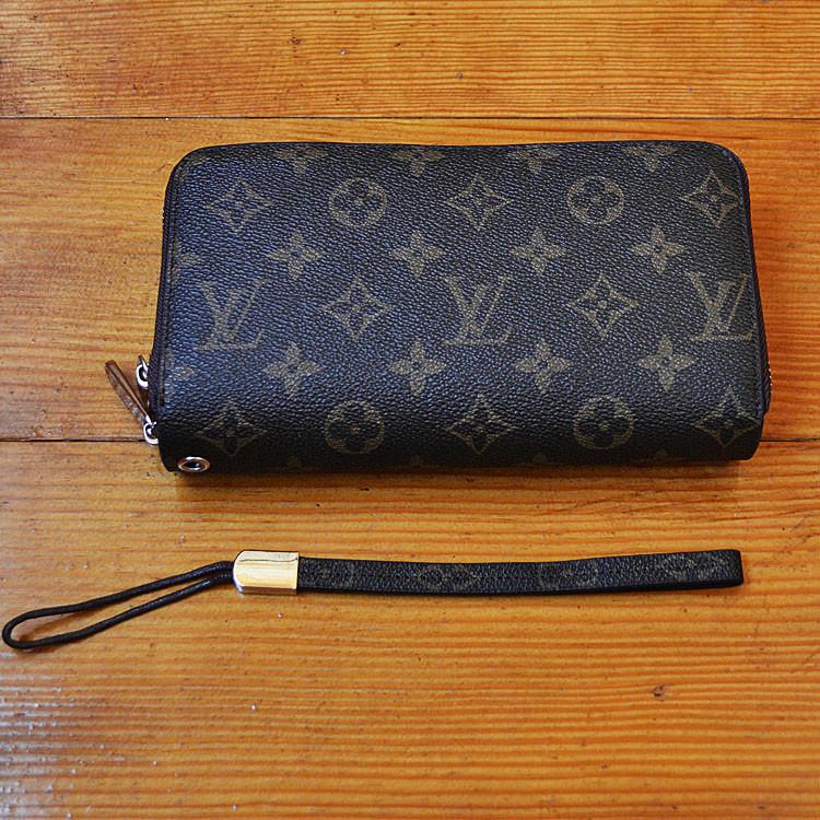 Трендовый кошелек Louis Vuitton коричневый Премиум Качество клатч Стильный барсетка Луи Виттон реплика