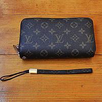 Трендовый кошелек Louis Vuitton коричневый Премиум Качество клатч Стильный барсетка Луи Виттон реплика, фото 1