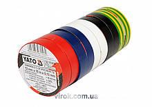 Набор лент изоляционных YATO 12 мм х 10 м 10 шт YT-8156