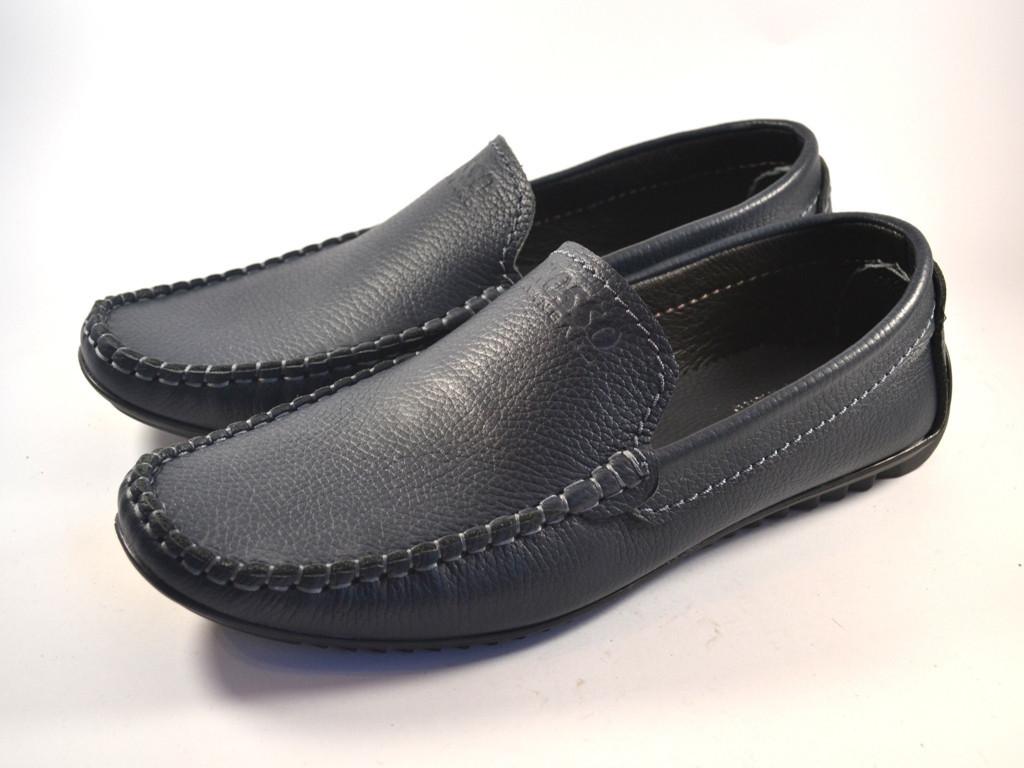 Мужская обувь больших размеров синие кожаные мокасины Rosso Avangard Guerin M4 Blu Leather BS