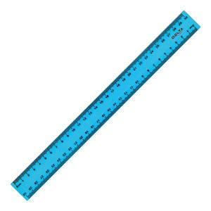 Линейка Axent пластиковая 30 см матовая голубая
